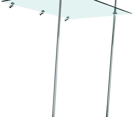 Glasvordach Zigmento F